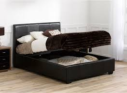 elegant double ottoman beds 4ft small double leather ottoman