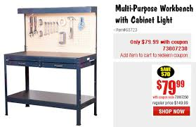 Workbench With Light Labor Day Weekend Sale At Harbor Freight Daily Bulletin