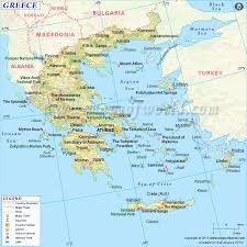 Labeled Map Of Europe by Greece Map
