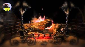yuletide log video beautiful wood burning fireplace youtube