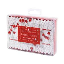 Red Heart Fairy Lights by Shop Online For Red Heart Party Table Fairy Lights With Delivery