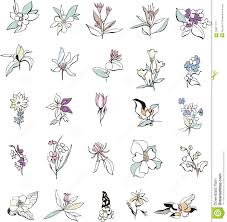 simple flower sketches stock vector image of decoration 33917777