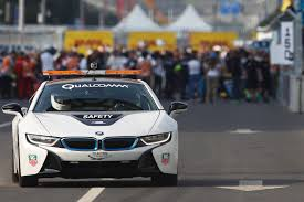 Bmw I8 Modified - formula e u0027s bmw i8 safety car driven on track autocar
