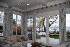 robert allen channel rods custom drapery linen window treatments