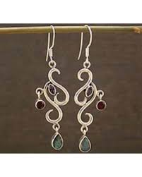 Garnet Chandelier Earrings Amazing Deal On Garnet And Amethyst Chandelier Earrings Modern
