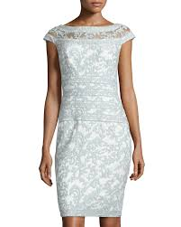 tadashi shoji dress v neck banded lace fit and flare 21 best