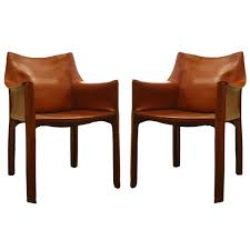 description pair of italian 1970 u0027s cab chairs by mario bellini