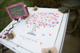 unique wedding guest books wedding guest books using thumbprint tree