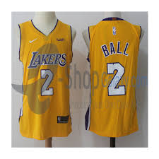 la lakers jersey 2018 home lonzo ball yellow replica e shop galaxy
