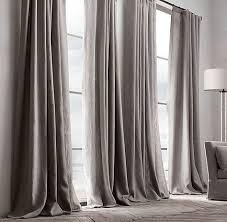 tende con drappeggio come scegliere la lunghezza di una tenda tenda a strascico lino