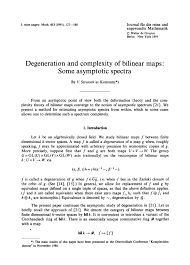 bilinear map degeneration and complexity of bilinear maps some asymptotic