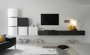 Wohnzimmerschrank Richtig Dekorieren Modulare Wohnwand Mit Sideboard Für Wohnzimmer In Grau Schwarz