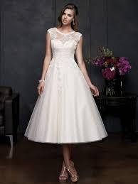 white tea length wedding dresses dress ty