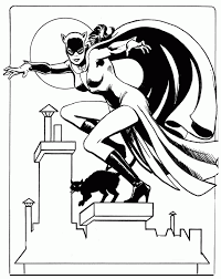 catwoman coloring picture for kids coloring pics