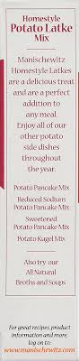 potato pancake mix manischewitz manischewitz homestyle potato latke mix 6 ounce