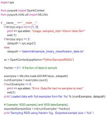 Python Map Example Spark Mllib Tutorial