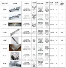 linear shower drain concrete drain covers types of floor drain