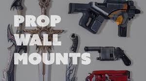 wall mount gun hangers prop shop two ways to display your props on the wall youtube