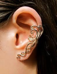 non pierced earrings ear cuff swirl earring spiral earring ear wrap bronze