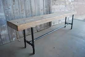 Industrial Bench Seat Bench Tall Bench Hallway Porch Tall Monks Bench Coat Hook