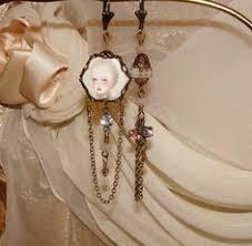 antoinette earrings antoinette earrings altered earrings cameo earrings