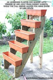 Vertical Garden Pot - planters vertical garden planters planter box stand plans up