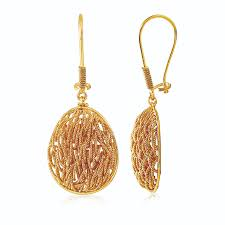 gold drop earrings filigree gold drop earrings by jewelegance jewellery in 22kt