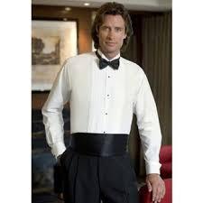 white wing collar tuxedo shirt