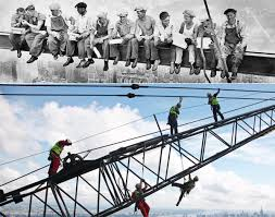 new york city construction workers go to great heights