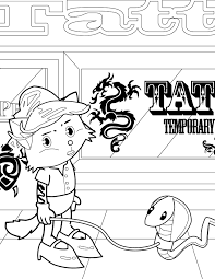 tattoo artist coloring page handipoints