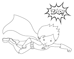 super hero coloring coloring page