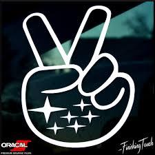 custom subaru emblem subie wave subaru decal peace sign sticker custom graphic