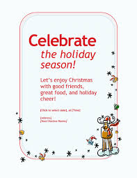holiday party invitation office templates