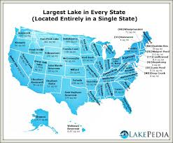 Map Of Georgia Lakes The Largest Lake In Every State Located Entirely In A Single