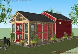 Greenhouse Shed Designs by Cb210 Combo Plans Chicken Coop Plans Construction Garden Sheds