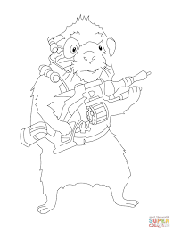 blaster coloring page free printable coloring pages