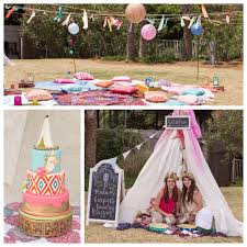 bohemian birthday party ideas pennant banners streamers and banners