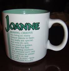 Creative Coffee Mugs Vintage Papel Joanne Name Meaning Poetry White U0026 Green Coffee Mug