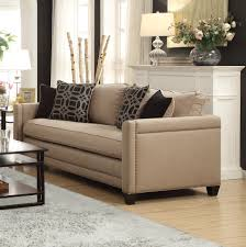 Gray Nailhead Sofa Living Room Leather Sofa With Nailheads Living Rooms