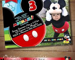 template personalized mickey mouse clubhouse 1st birthday