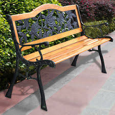 Horseshoe Bench Iron Bench Ebay