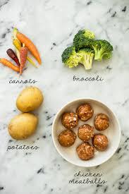 ingr馘ients cuisine chicken meatball roasted vegetable sheet pan dinner healthy