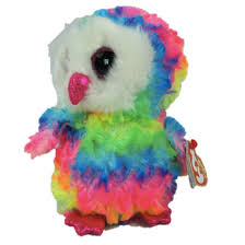 ty keyring beanie boo rainbow multicoloured poodle nwmt