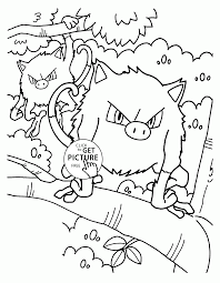 pokemon mankey coloring pages for kids pokemon characters