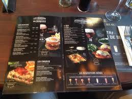 le bureau carte pub restaurant au bureau nantes picture of au bureau