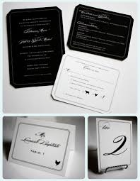 black wedding invitations with white lettering emdotzee designs