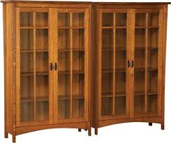 Wood Bookcase With Doors Plush Solid Wood Bookcases With Doors Arts And Crafts Bookcase