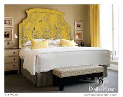 chinoiserie pattern fabric for upholstery and headboard