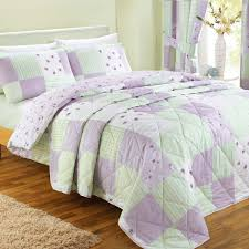 patchwork check checked pink green king bed size duvet cover quilt