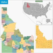 map of idaho maps of idaho map geeks